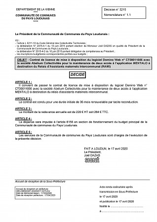 3215 - ABELIUM contrat licence mise disposition Domino Web application Mentalo RAMi