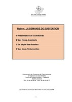 Notice 2018- demande de subvention