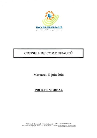 PV Conseil Communautaire 100615